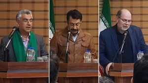 از راست به چپ:دکتر کارن خانلری،دکتر علی علی بابی،دکتر حسینی